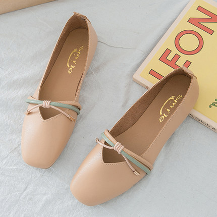 Women Shallow Mouth Simple Fashion Flat Doll Shoes