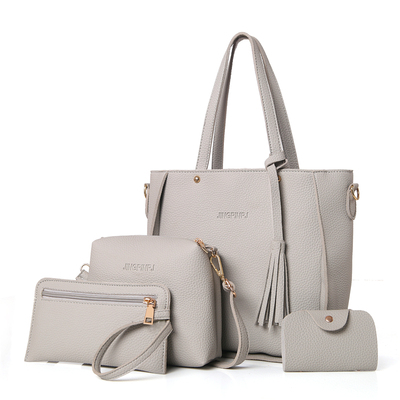 Women Solid Color Office Fashion Casual Shoulder Bag Set
