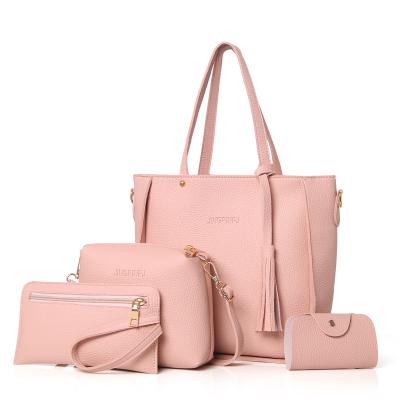 Women Solid Color Office Fashion Casual Shoulder Bag Set