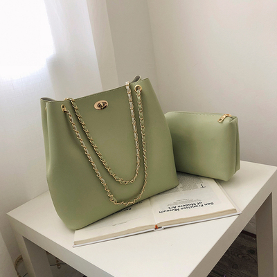 Women Chain Strap Classy Fashion Nice Shoulder Bag Set
