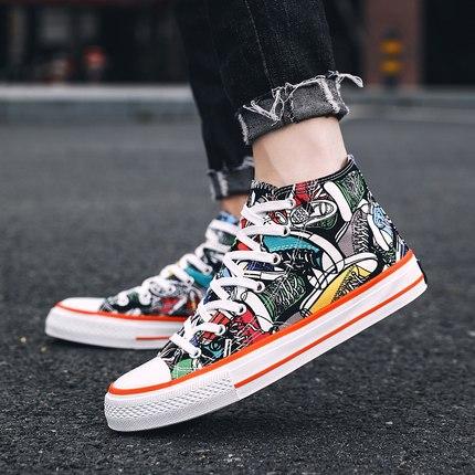 High-Cut Canvas Shoes