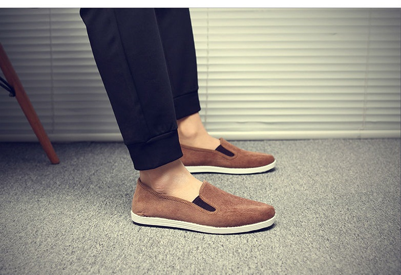 """Men""""s Shoes Cloth Work Shoes Middle-Age Father Non-Slip Soft Bottom Shoes"""