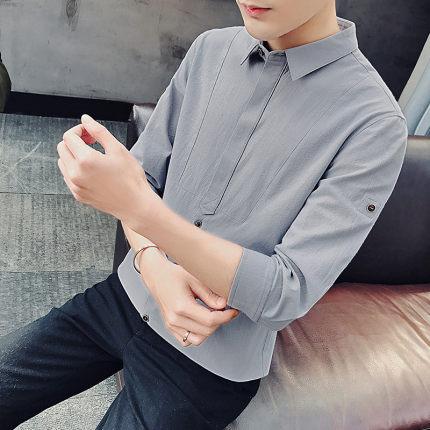 Men Casual Slim Half-Sleeved Button-down Polo Shirt