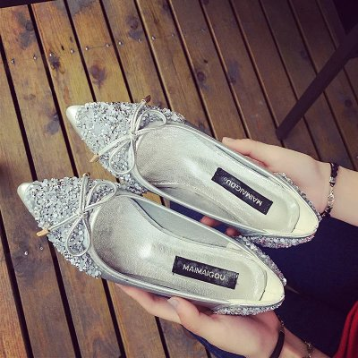 Korean Pointed Shallow Mouth Women's casual Flat Shoes