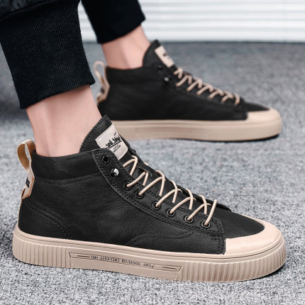 Men New Autumn Casual Korean Trend High Top Shoes