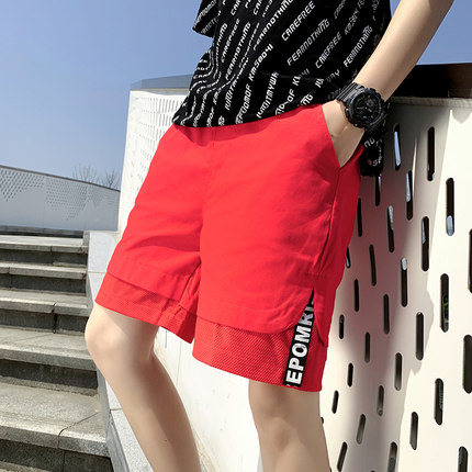 Men Clothing Summer Casual Five Point Pants