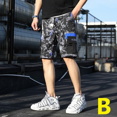Men Clothing Loose Straight Five Point Pants