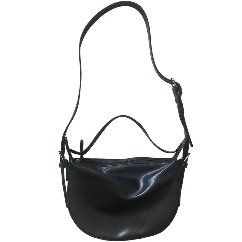 Women Dark Color Soft Sling Bag