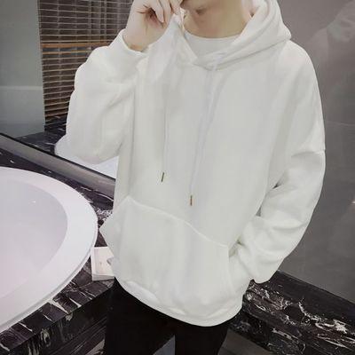 Plain Men's Winter Long-sleeved Hooded Jacket T