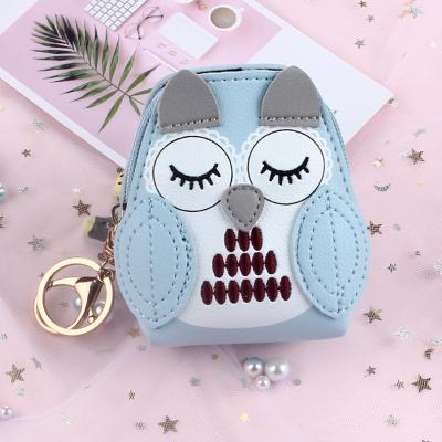 Women Creative Holding Coin Purse Sleeping Owl Bag