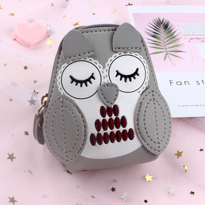 Women Creative Holding Coin Purse Sleeping Owl Bag
