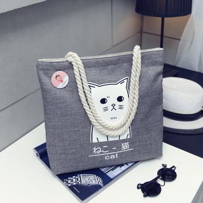 Japan Zakka Kitty Female Student Canvas Shoulder Bag
