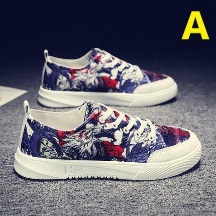 Men Graffiti Street Casual Canvas Shoes