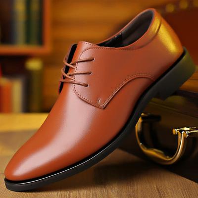 Men Lightweight Formal Waterproof Leather Shoes
