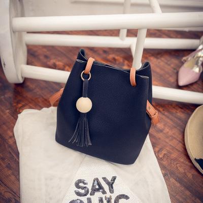 Simple Bucket Bag Female Slingbag