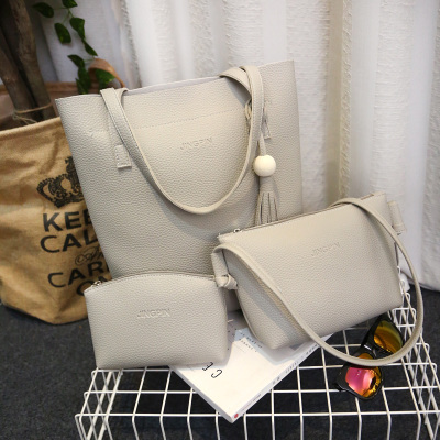 [READY STOCK] 3 in 1 Female Shoulder Bag Sling Bag Cross-body and Wallet