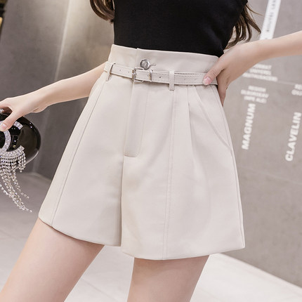 Women Clothing Wide-leg Pants High-waist Casual Shorts