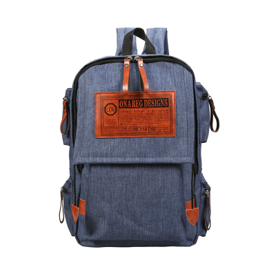 Couple's Men's Women's Canvas Large Capacity Student Backpack