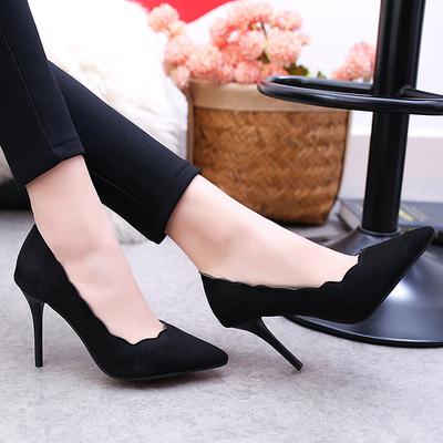 Women's Female Pointed Head Lace OL Work High Heels