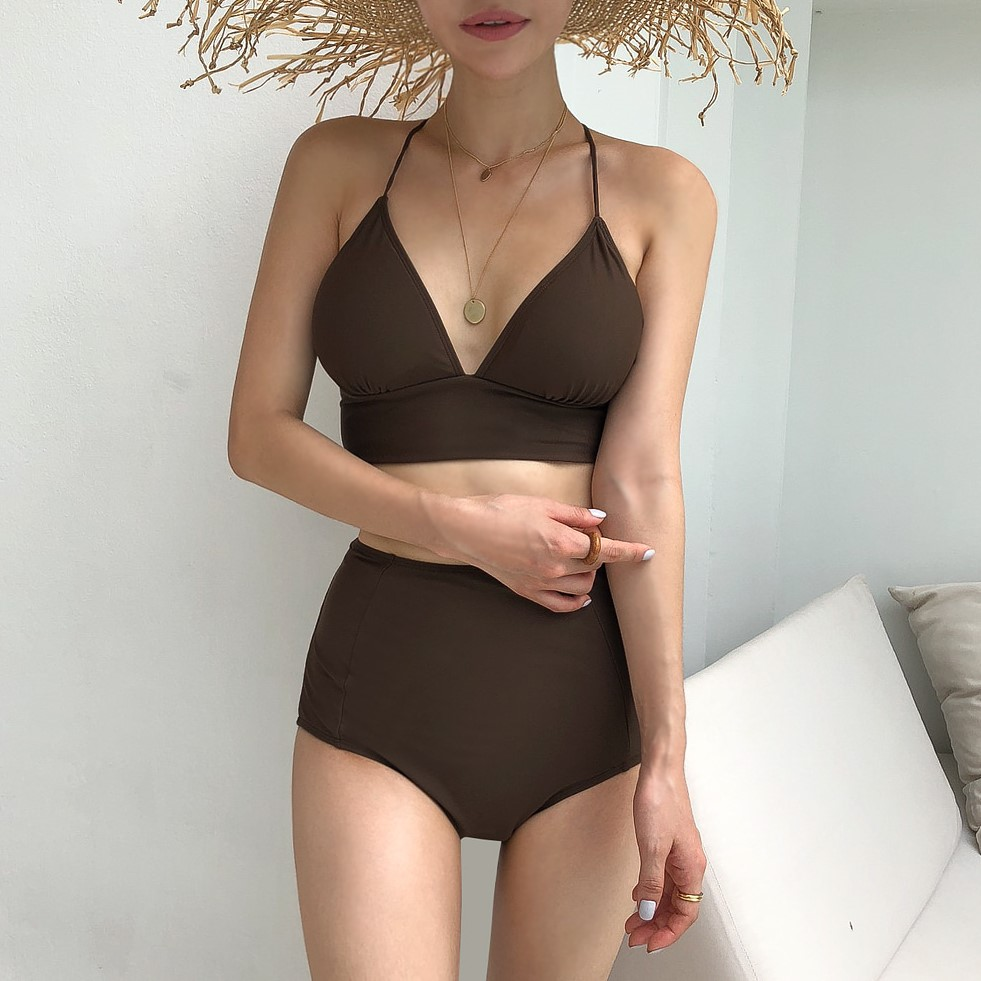 Women Clothing Casual Beach Triangle Sexy Conservative Swimwear
