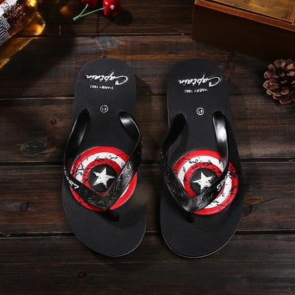 Male Men's Summer Captain America Slippers