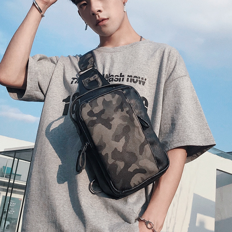 Men Casual Camouflage Chest Sports Bag