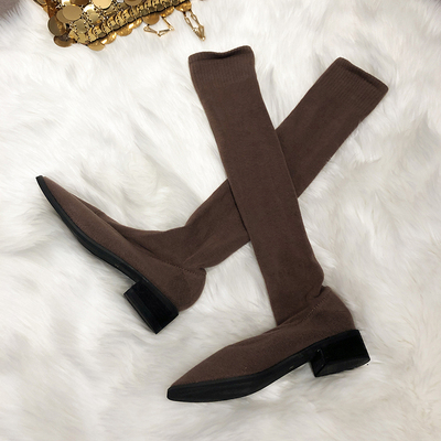 Women Over-the-Knee Pointed Elastic Boots