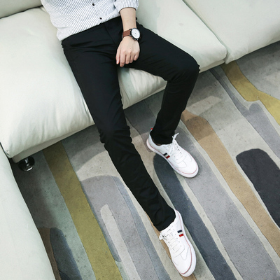 Men Clothing Straight Slim Sports Pants