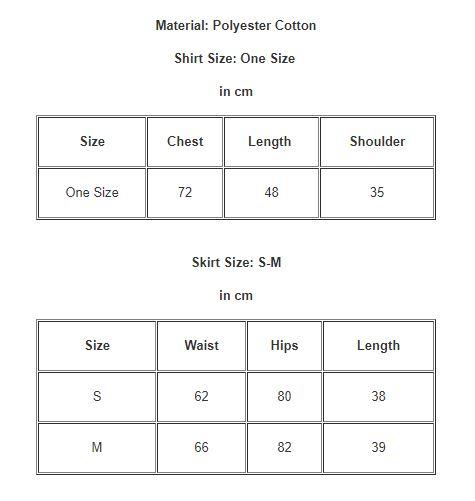 Women Clothing Moon Print Round Neck Shirt + High Waist Pleated Short Skirt