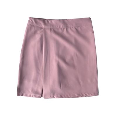 Women Clothing Half-length High waist Slit Elastic Skirt