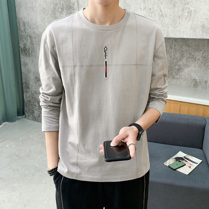 Men Clothing Long-sleeved Plain Solid Color Casual Shirt