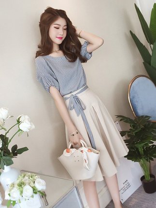 Women Clothing Two-piece Suit Goddess A-line Skirt