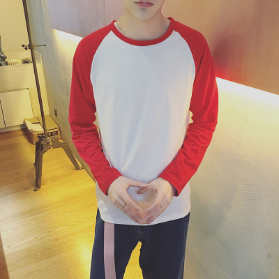 Men Mixed Colour Round-Neck Long Sleeve T-shirt