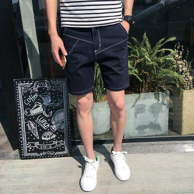 Men Clothing Five Points Solid Color Summer Casual Denim Pants