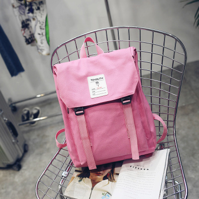 Women Japanese College Student Canvas Backpack