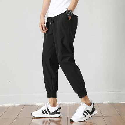 Men Clothing Loose Quick-drying Nine Points Trousers