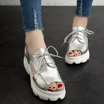 Women Muffled Fish-Mouth Sandals