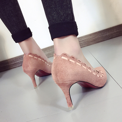 Women High-Heel Pointed-Head Working Office Shoes