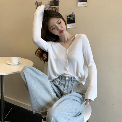 Women Clothing Sunscreen Knitted Loose Long-sleeved Cardigan Jacket
