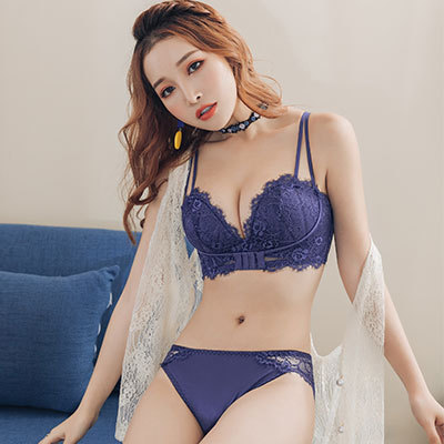 Women Clothing Sexy Lace No Steel Ring Underwear Set