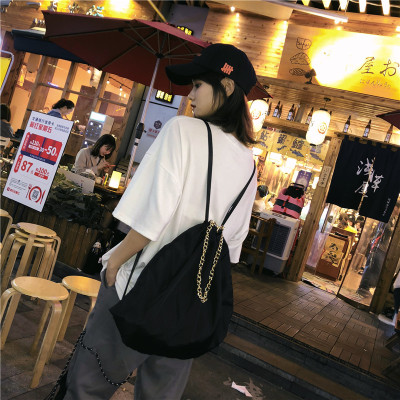 Men Large Capacity Waterproof Nylon Cloth Shoulder Bag