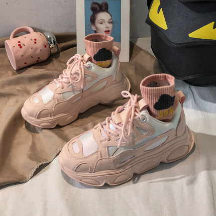 Women Lace-up Students Sports Casual Shoes