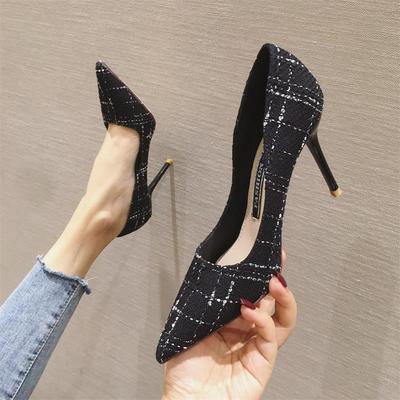 Women Fine Heel Pointed Single Shoes