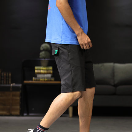 Men Clothing Casual Loose Five Points Pants