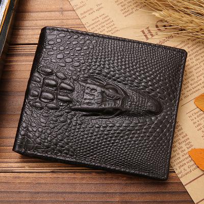 Men Crocodile Business Short Wallet