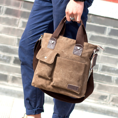 Men Canvas Casual Crosbody Sling Bag