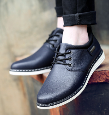 [PRE-ORDER] Men Casual Suits Round-Headed Leather Shoes