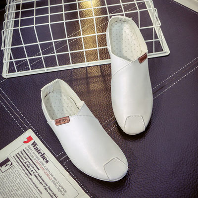 [READY STOCK] Men Casual Suits Round-Headed Leather Shoes