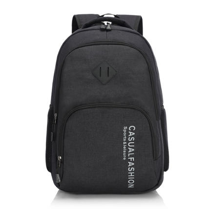 Men Simple Canvas Student PC Backpack