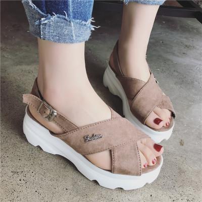 Women Crossed Platform Sandals